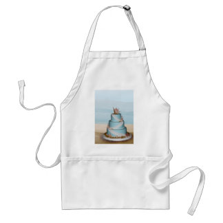 Elegant Sea Shell Wedding cake Apron