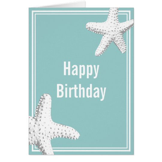 Elegant Sea Stars Birthday Greeting Card