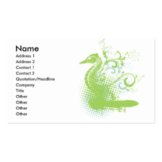 elegant seahorse pack of standard business cards