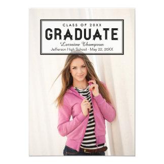 Elegant Seal Graduation Invite Announcement Black
