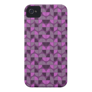 Elegant Seamless Purple Pattern iPhone 4 Case-Mate Case