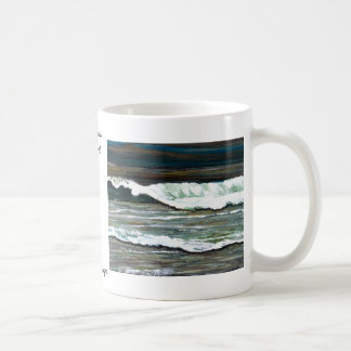 """Elegant Seascape""  CricketDiane Ocean Art Basic White Mug"