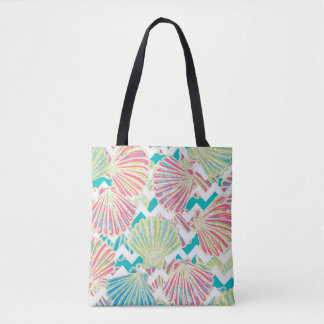 Elegant Seashells Pattern Tote Bag
