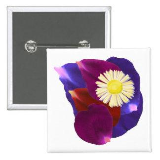 Elegant Sensual Rose Petal Art 15 Cm Square Badge