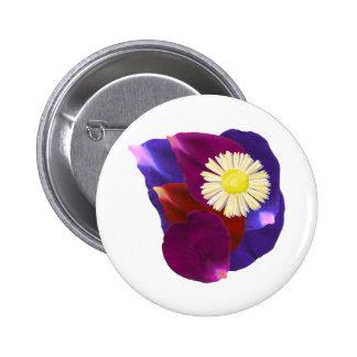Elegant Sensual Rose Petal Art 6 Cm Round Badge