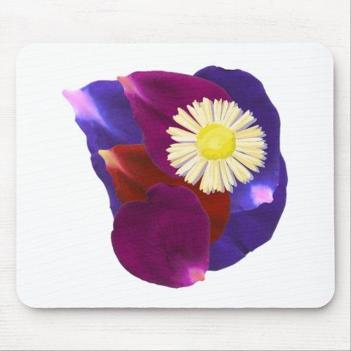 Elegant Sensual Rose Petal Art Mouse Pads