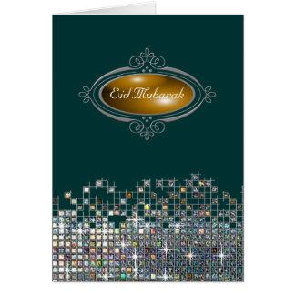 Elegant Sequin Eid Mubarak Card