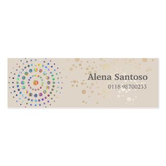 Elegant Sequins Pack Of Skinny Business Cards