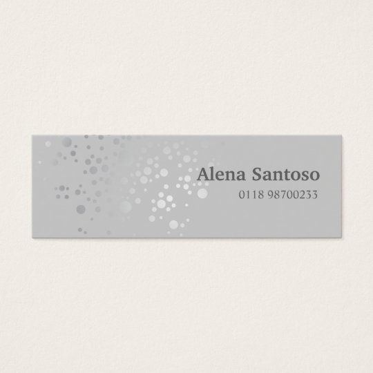 Elegant Sequins Mini Business Card