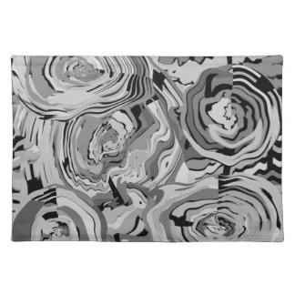 Elegant Shades of Gray Cloth Placemats Place Mat