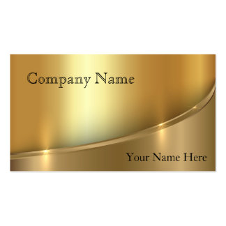 Elegant Shadowed Bright Gold Business Card