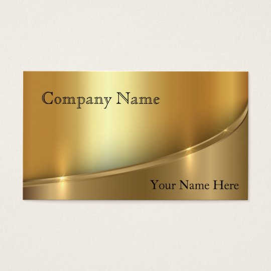 Elegant Shadowed Bright Gold Business Card