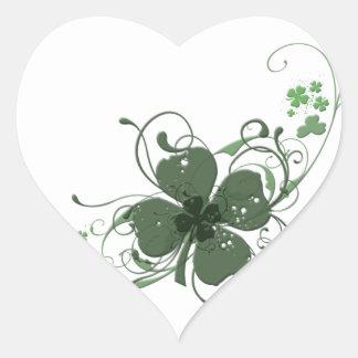 Elegant Shamrock Design Sticker