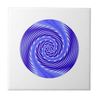 Elegant Shimmering Blue Vortex Modern Swirl Small Square Tile