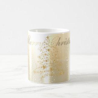 Elegant Shiny,Faux Gold Christmas Tree Coffee Mug