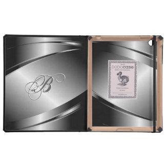 Elegant Shiny Metal Look Stainless Steel-Template iPad Covers