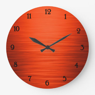 Elegant shiny orange shaded wall clock