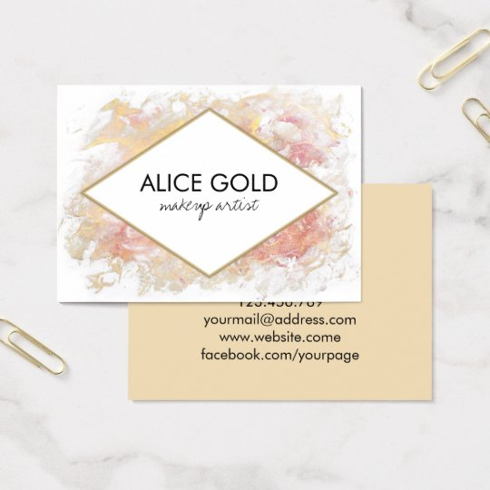 Elegant shiny painting business card