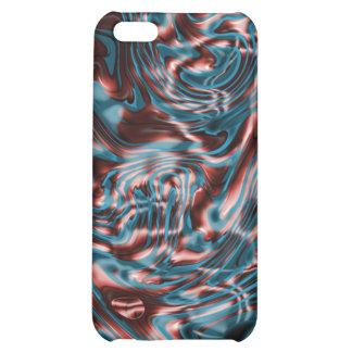 Elegant shiny red liquid metal iPhone 5C case
