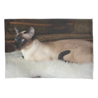 Elegant Siamese Cat Pillowcase