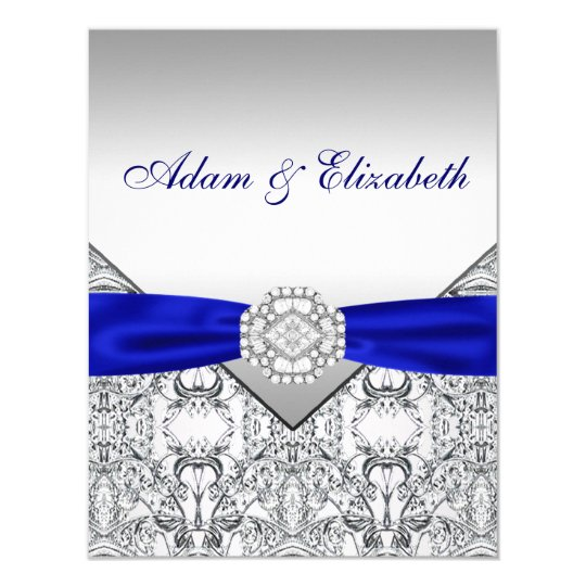 Elegant Silver and Royal Blue Save the Date