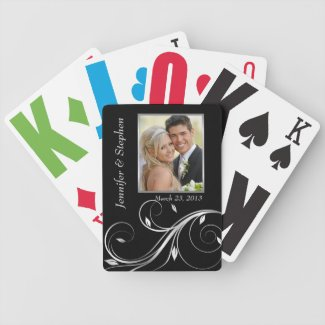 Wedding Photo Playing Cards