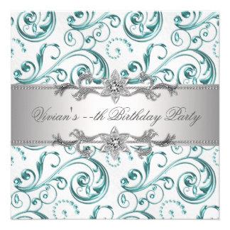 Elegant Silver Blue All Occasion Party Invitation