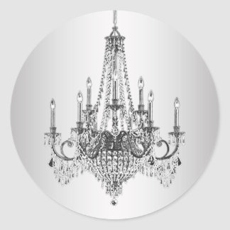 Elegant Silver Chandelier Stickers