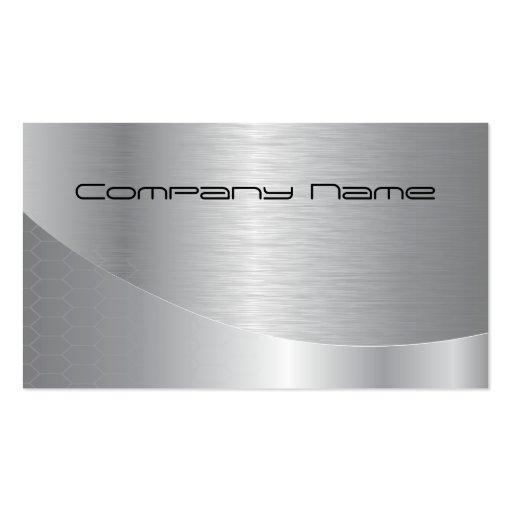 Elegant Silver Corporate Business Card