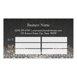 Elegant Silver Damask Hair Salon Multi Appointment Pack Of Standard Business Cards