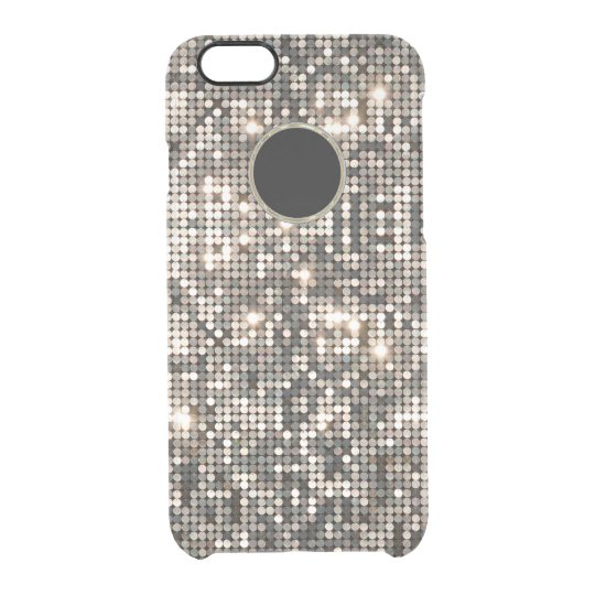 Elegant Silver Disco Glitter & Background GR2 Clear