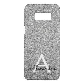 Elegant Silver Glitter and Sparkle Monogram Case-Mate Samsung Galaxy S8 Case