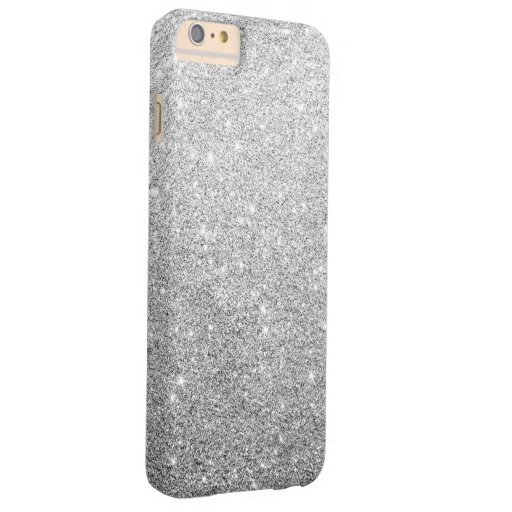 Elegant Silver Glitter Barely There iPhone 6 Plus Case