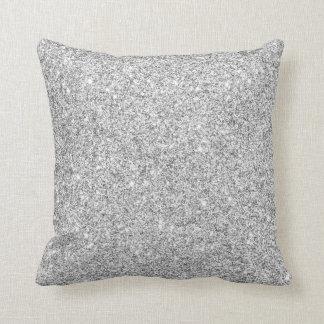 Elegant Silver Glitter Cushion