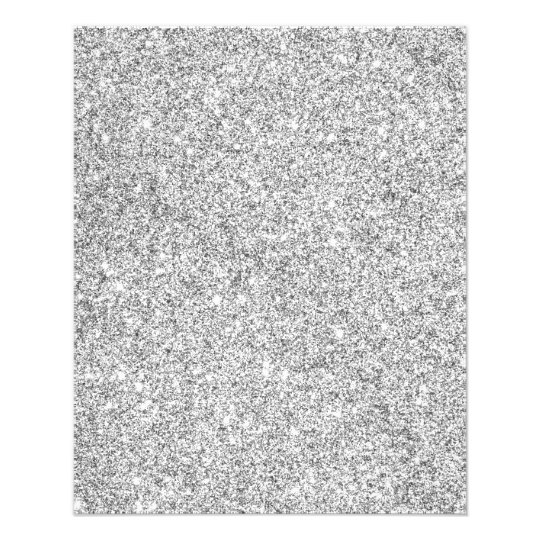 Elegant Silver Glitter Flyer