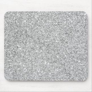 Elegant Silver Glitter Mouse Mat