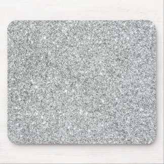 Elegant Silver Glitter Mouse Pad