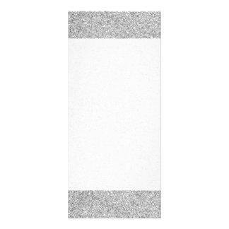 Elegant Silver Glitter Rack Card Template
