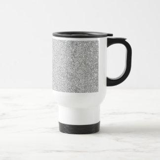 Elegant Silver Glitter Travel Mug