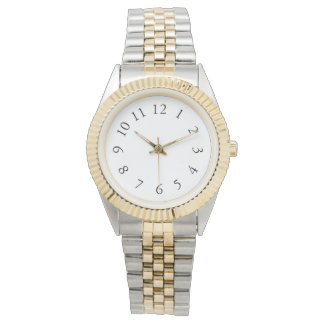 Elegant Silver & Gold Watch