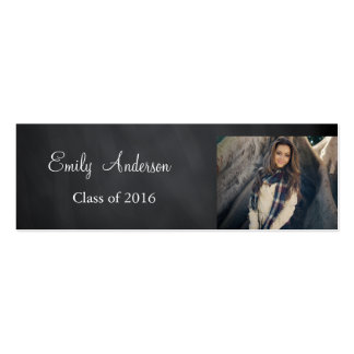 Elegant Silver Graduation Name Card Pack Of Skinny Business Cards