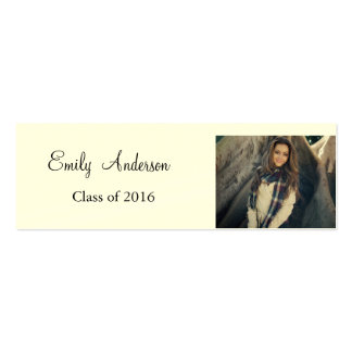 Elegant Silver Graduation Name Card Pack Of Skinny Business Cards