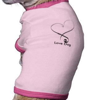 Elegant silver heart DIY Template Doggie Tee Shirt