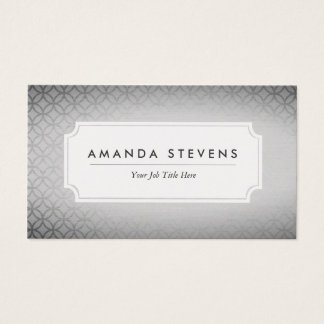 Elegant Silver Metallic Business Cards