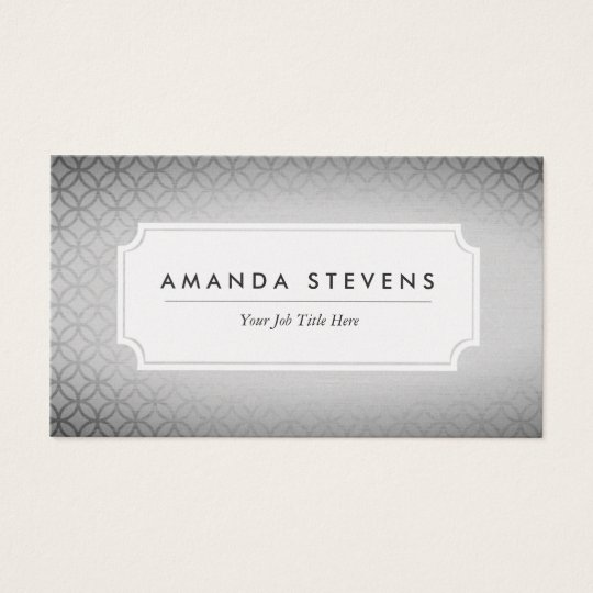 Elegant Silver Metallic Business Cards