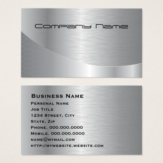 Elegant Silver Modern Corporate Business Card