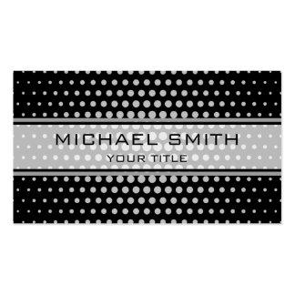Elegant Silver Polka Dot Pattern Pack Of Standard Business Cards