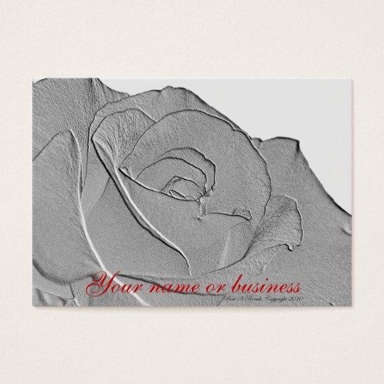 Elegant Silver Rose Business Card
