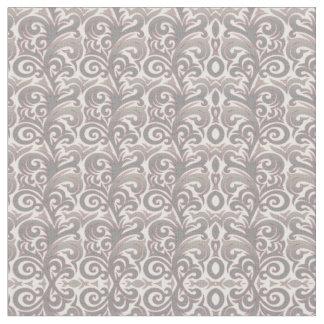 Elegant Silver Verdure Fabric