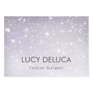 Elegant Silver White Glitter Business Card